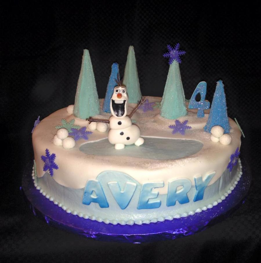 Cool It May Be Below Freezing But Olaf Melts Your Heart Cakecentral Com Personalised Birthday Cards Akebfashionlily Jamesorg