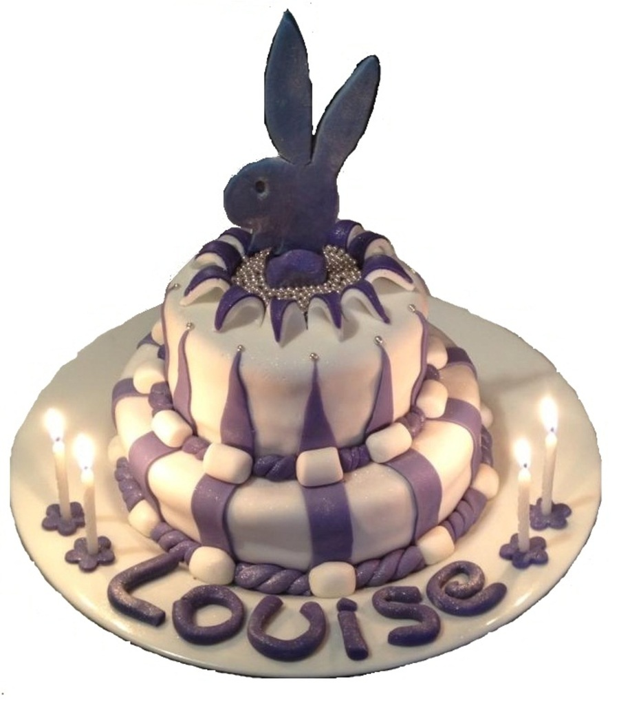 Playboy Bunny Explosion Cake on Cake Central