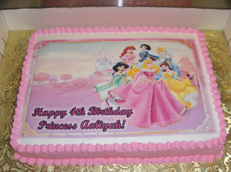 Disney Princess Cake For Baby Shower