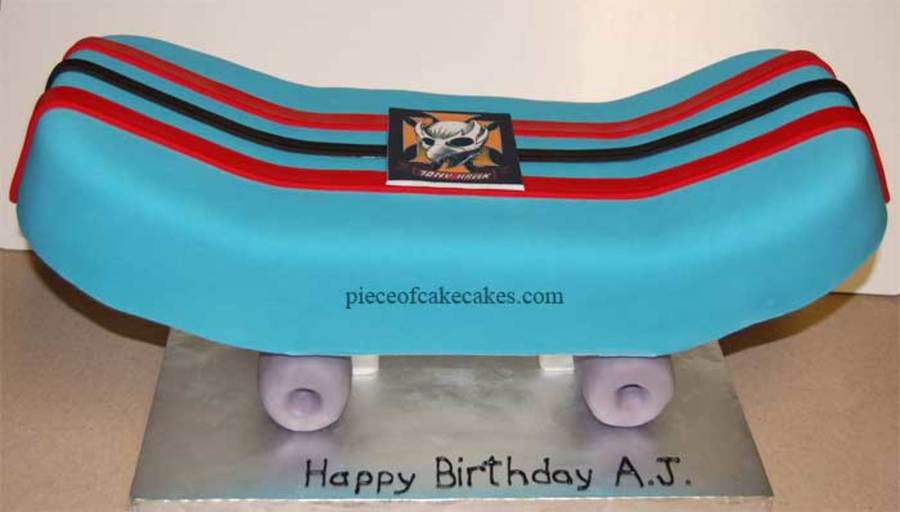 Blue Skateboard on Cake Central