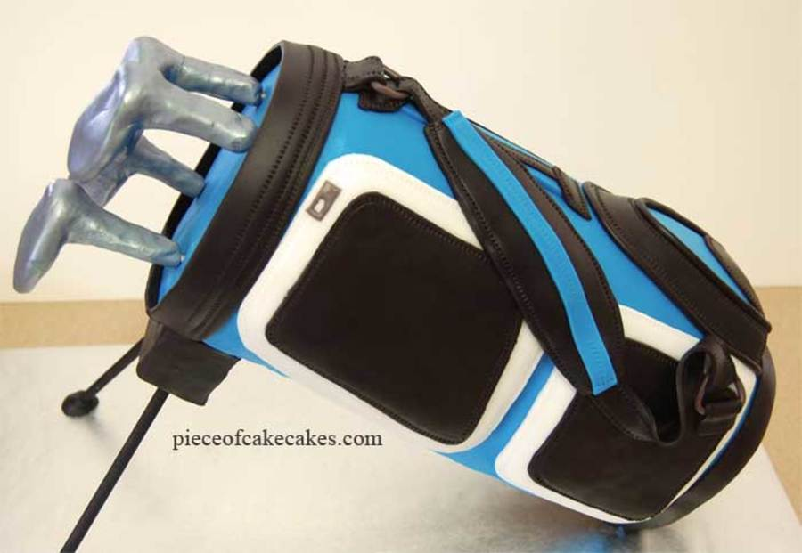Blue Golf Bag on Cake Central