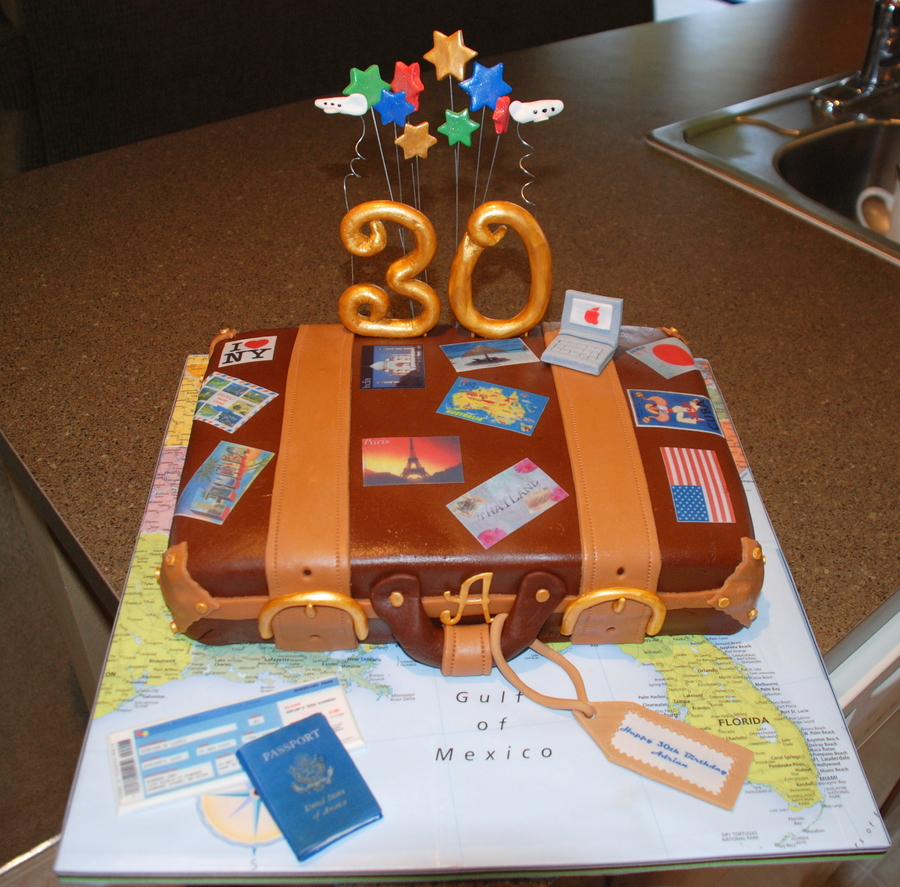 30Th Travel Birthday  on Cake Central