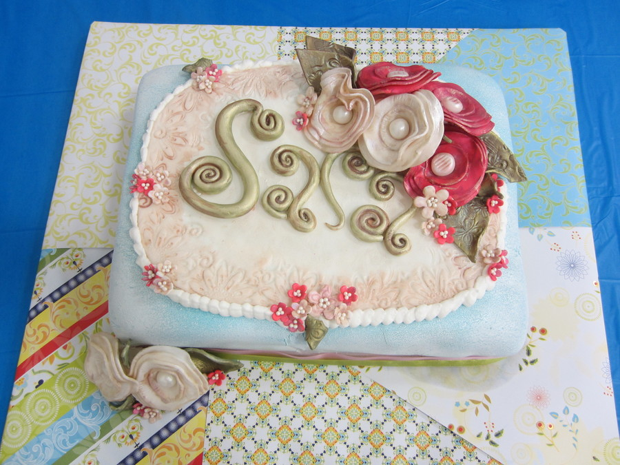 Birthday Cake For Fiances Grandmother Sara All Decorations Made With