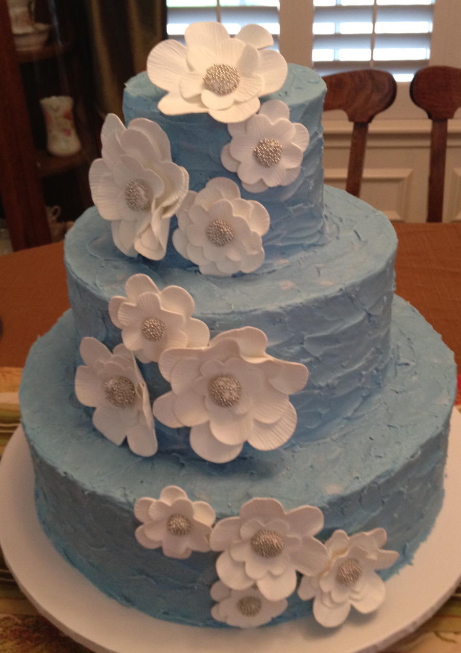 Blue Wedding on Cake Central