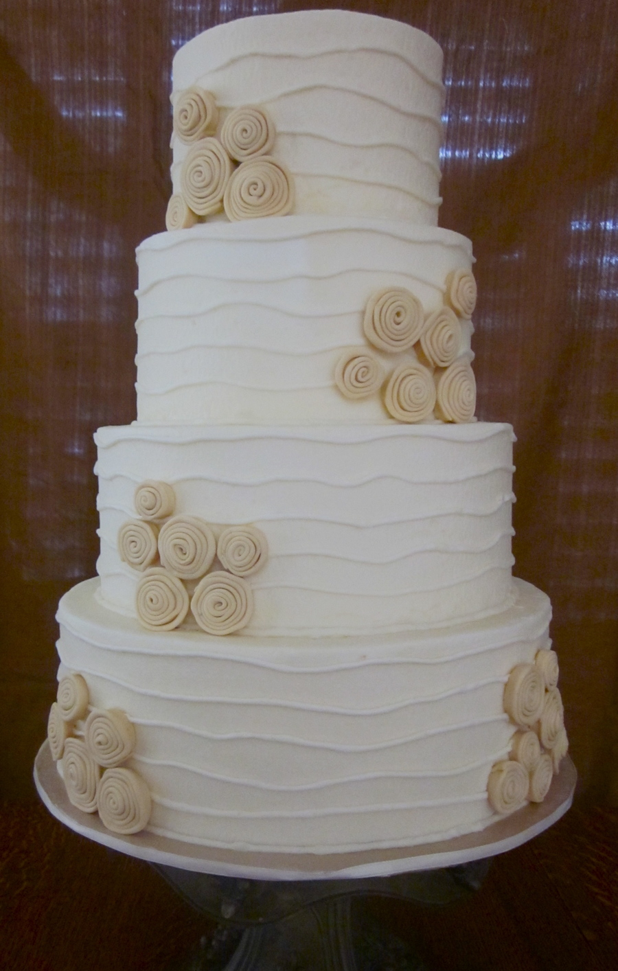 Ribbon Roses Wedding on Cake Central