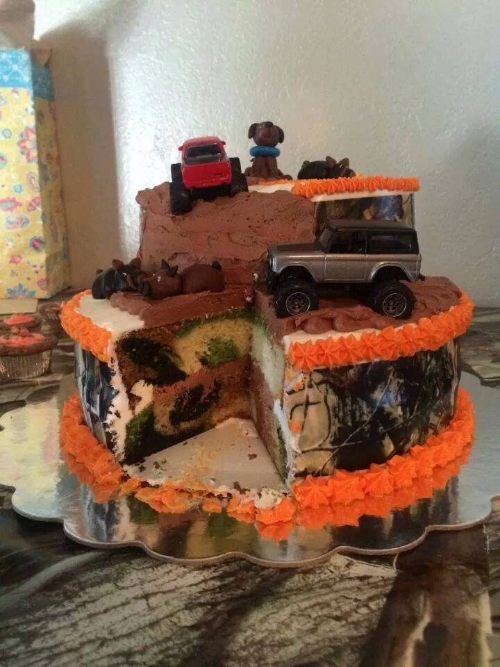Outstanding Camo Mudding And Hunting Are Birthday Boys Faves Cakecentral Com Funny Birthday Cards Online Aboleapandamsfinfo