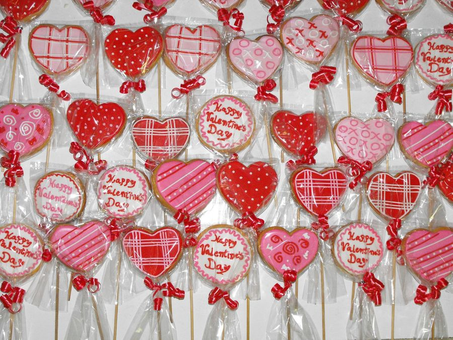 San Valentines Cookies on Cake Central