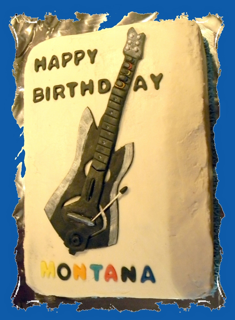 Guitar Hero Cake on Cake Central