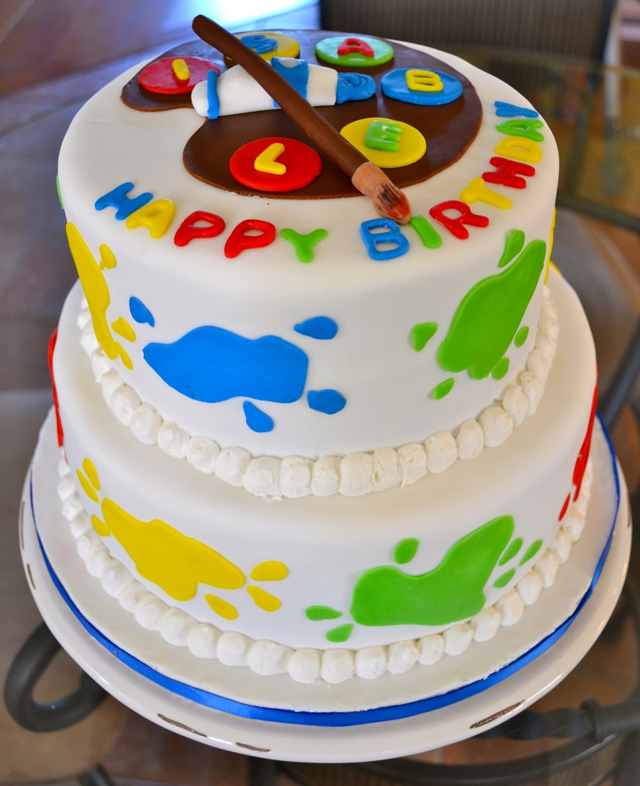 Craft Artist Birthday Cake