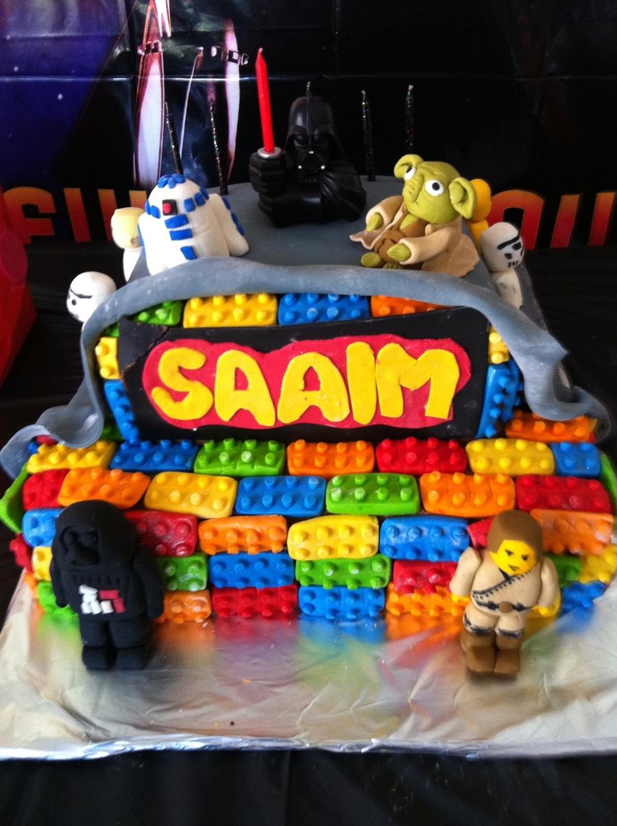 Star Wars Lego Decorations Lego Star Wars Birthday Cake Cakecentralcom