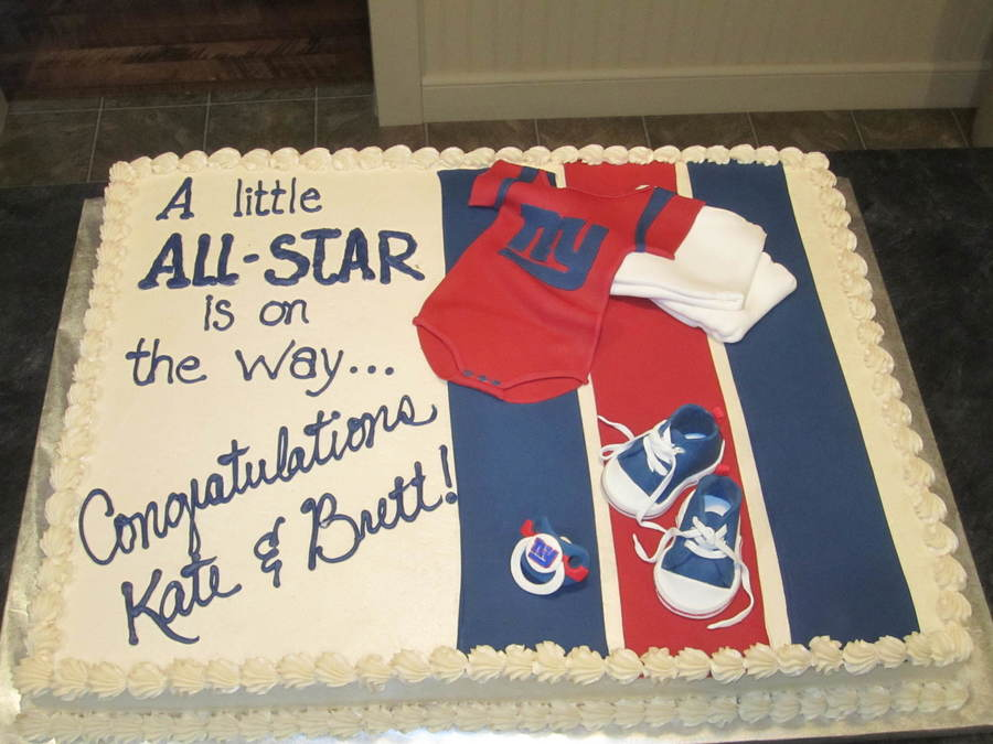 This Was Done For A Client Having A Ny Giants Themed Baby Shower For