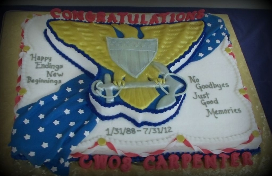 Uscg Retirement on Cake Central
