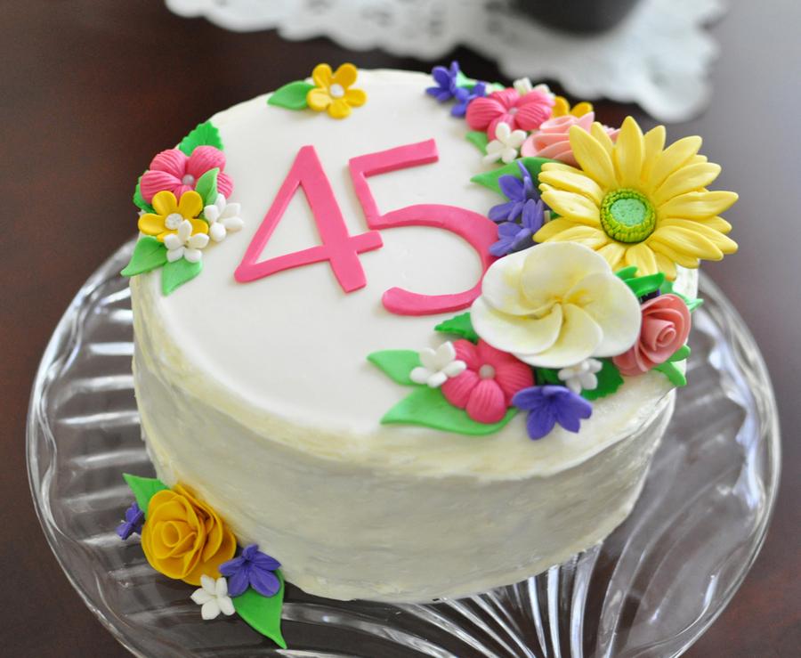 Astonishing Darlenes 45Th Birthday Cake Cakecentral Com Personalised Birthday Cards Paralily Jamesorg