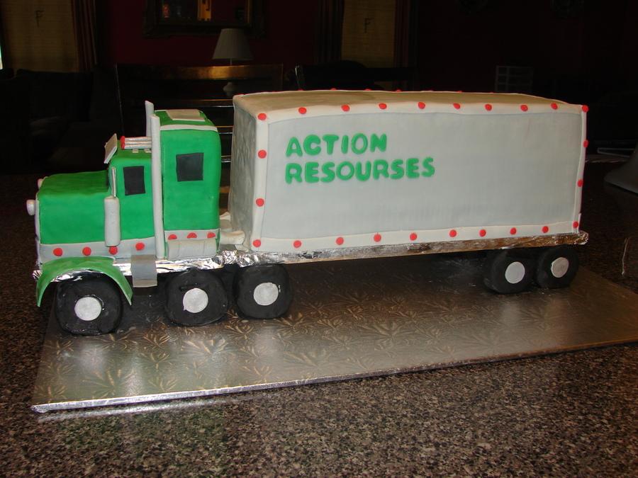 Tractor Trailer Birthday Cake