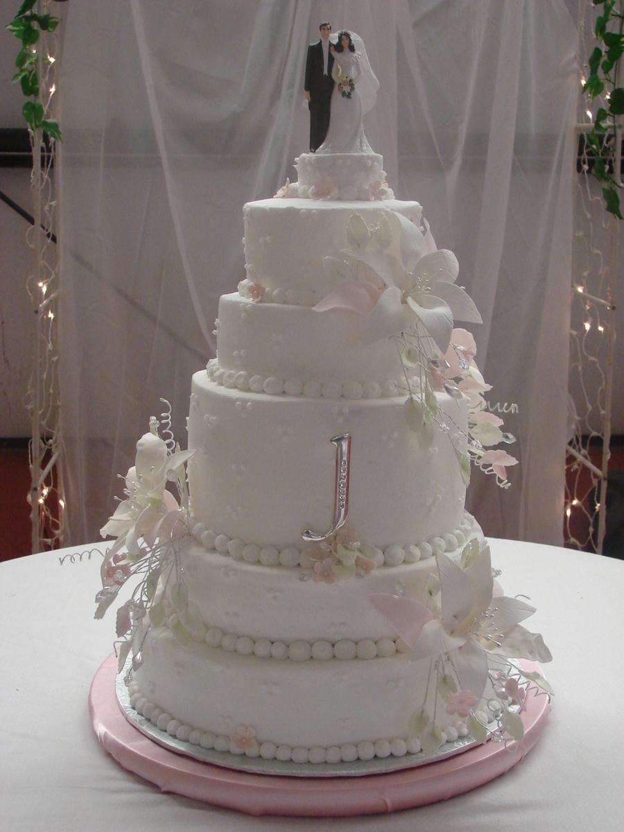 Stargazer Lily Wedding Cake Cakecentral Com