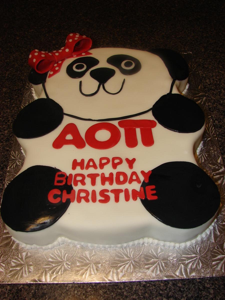 Fantastic Panda Bear Birthday Cake Cakecentral Com Funny Birthday Cards Online Inifofree Goldxyz