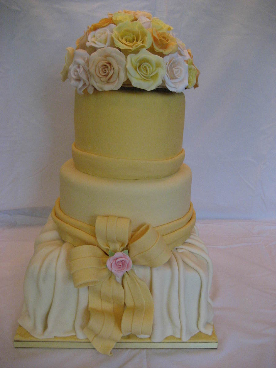 Spring Bridal Shower With Multi-Colored Roses on Cake Central