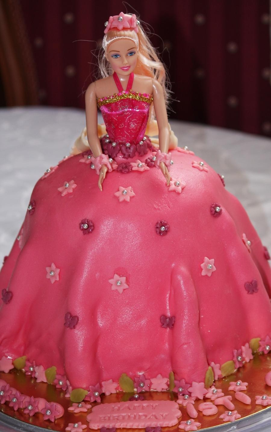 Pink Barbie Doll Cake Cakecentral Com