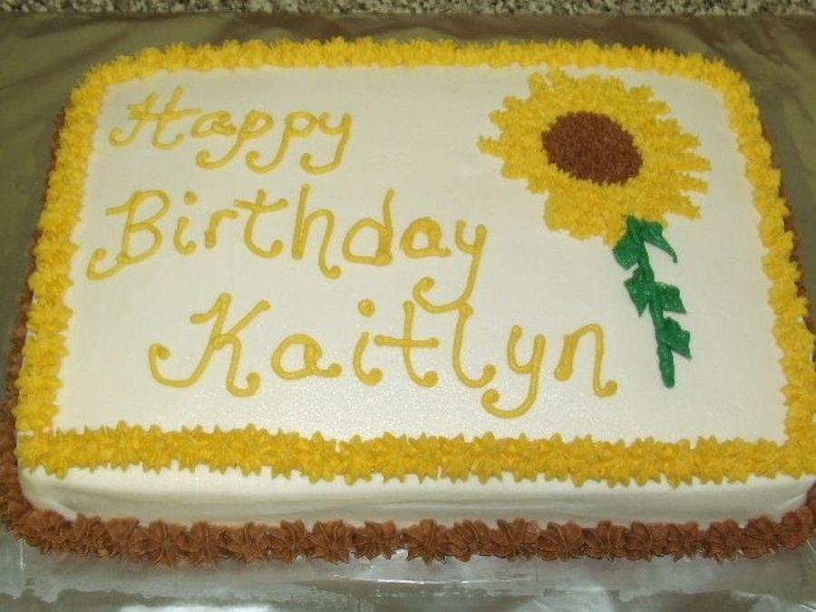 Excellent Sunflower Birthday Cake Cakecentral Com Funny Birthday Cards Online Necthendildamsfinfo