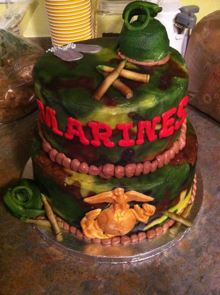 Marine Corps Infantry School Graduation Cake on Cake Central