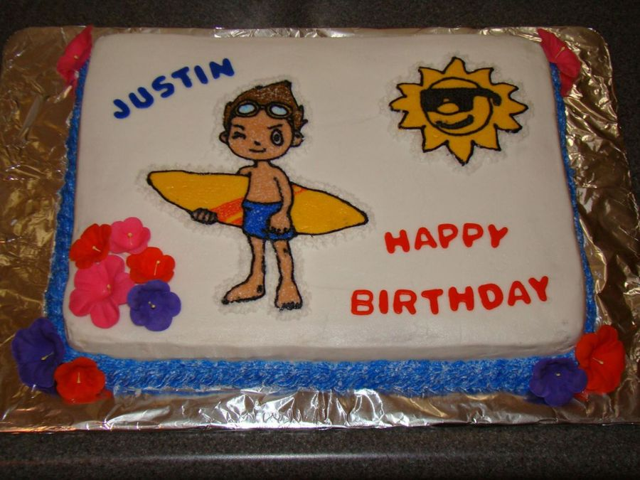 Birthday Cake For Luau Party on Cake Central