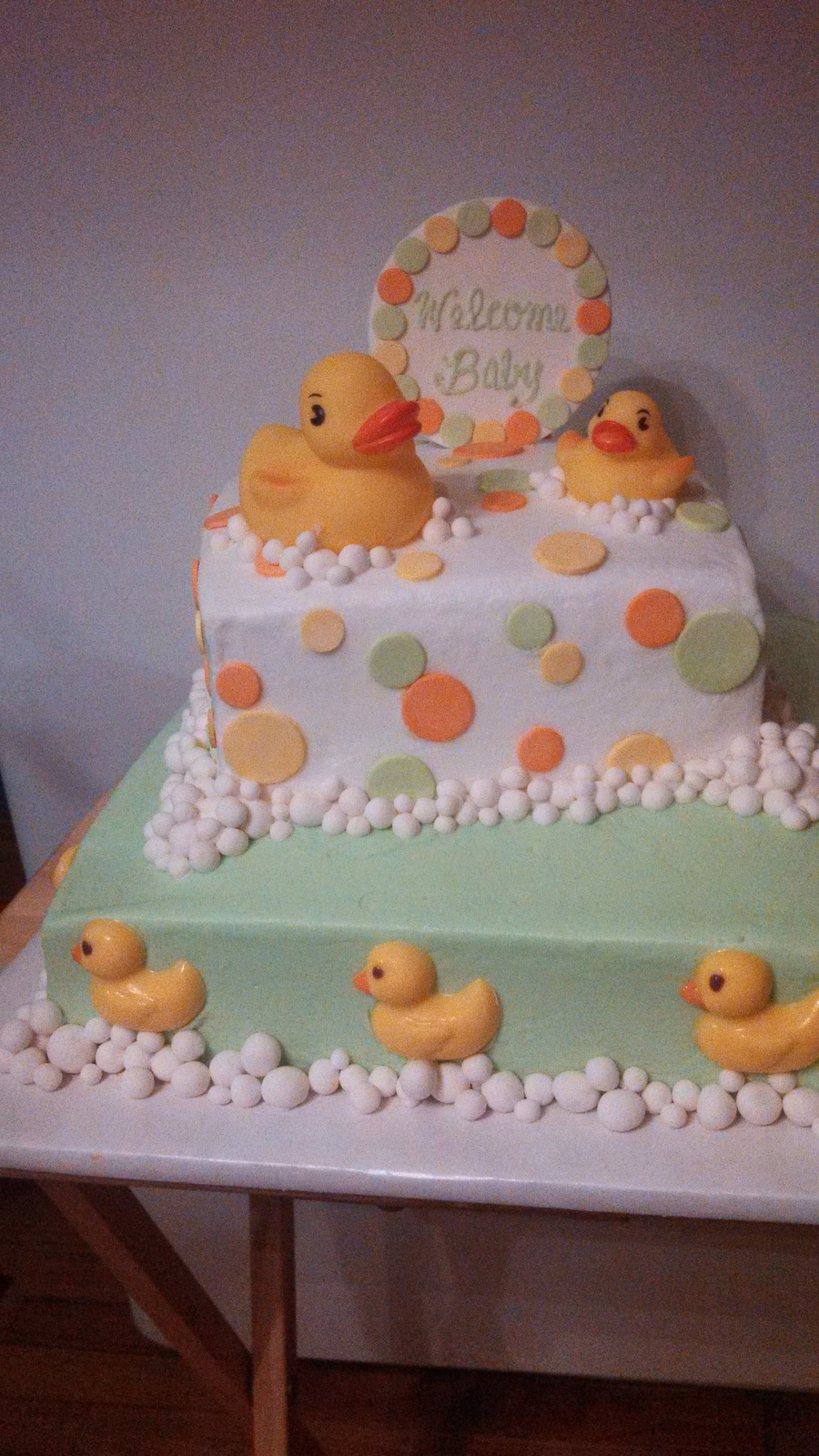 Fondant Decor On Buttercream Cake : Buttercream Frosting Fondant Decorations Candy Mold Ducks ...