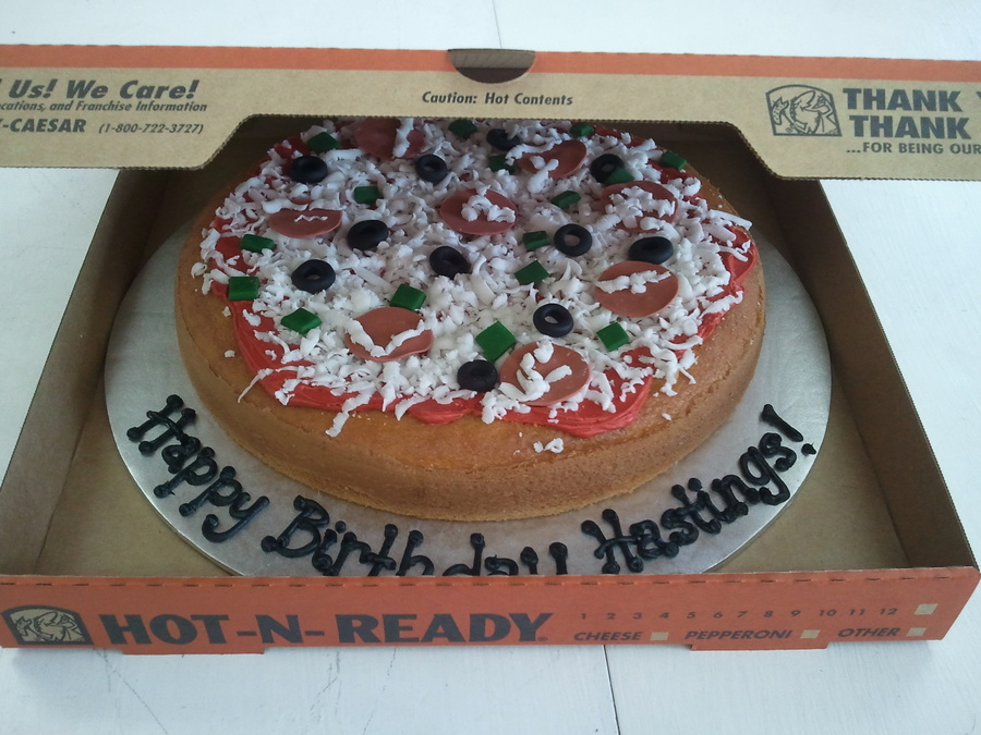 Pizza Birthday Cake on Cake Central