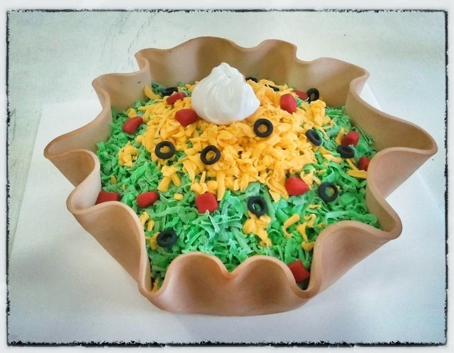 Taco Salad Cake on Cake Central
