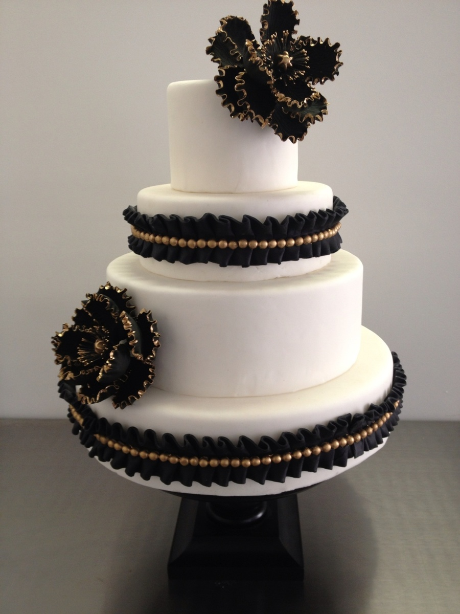 Great Gatsby Themed Wedding Cake on Cake Central