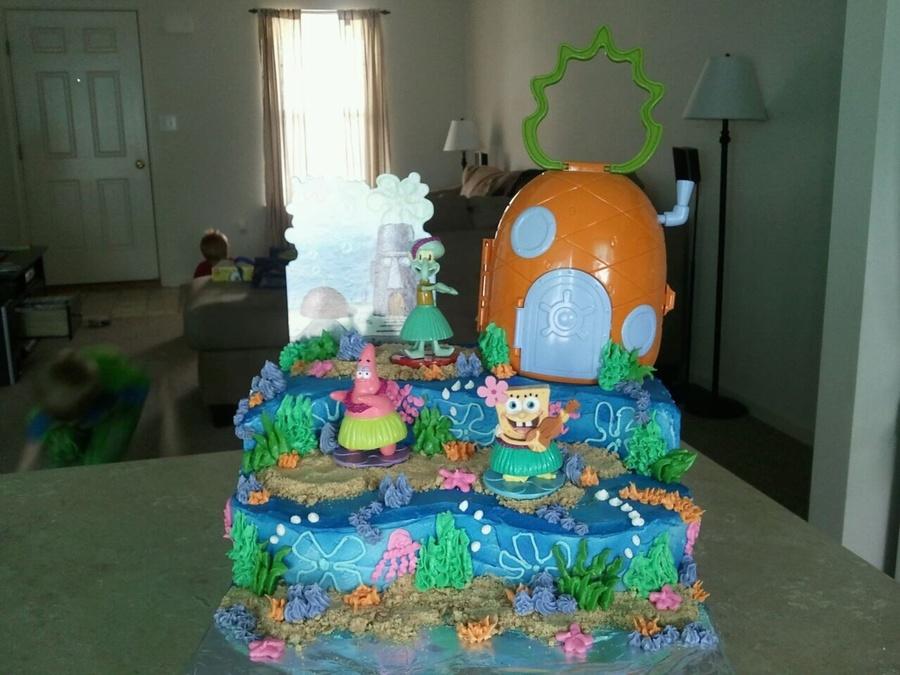 Spongebob Under The Sea All Buttercream Cakecentral Com