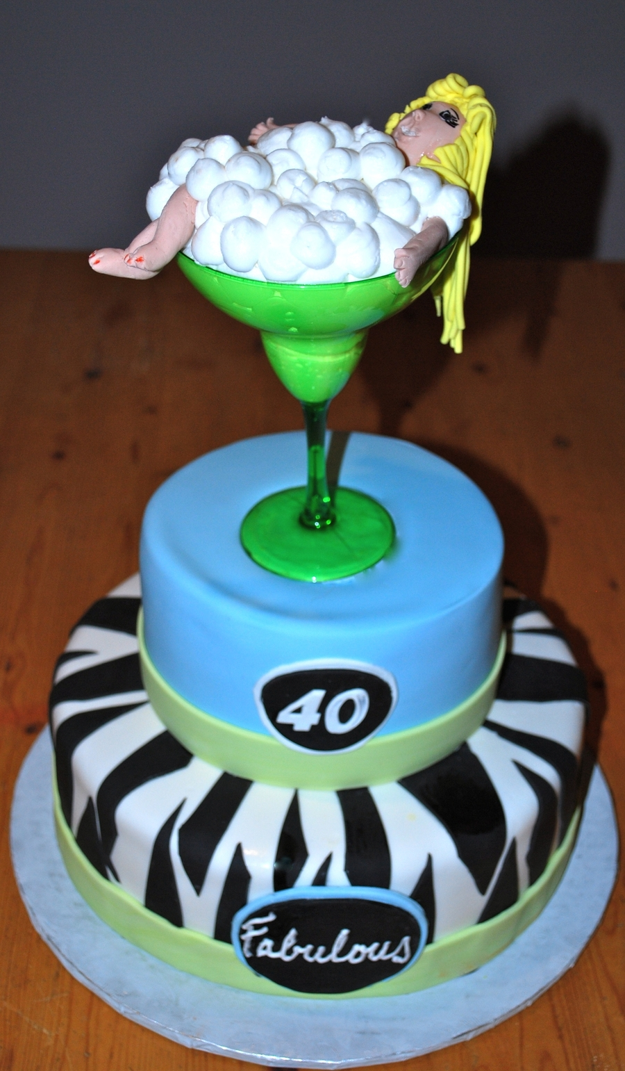 40Th Birthday Margarita Girl on Cake Central