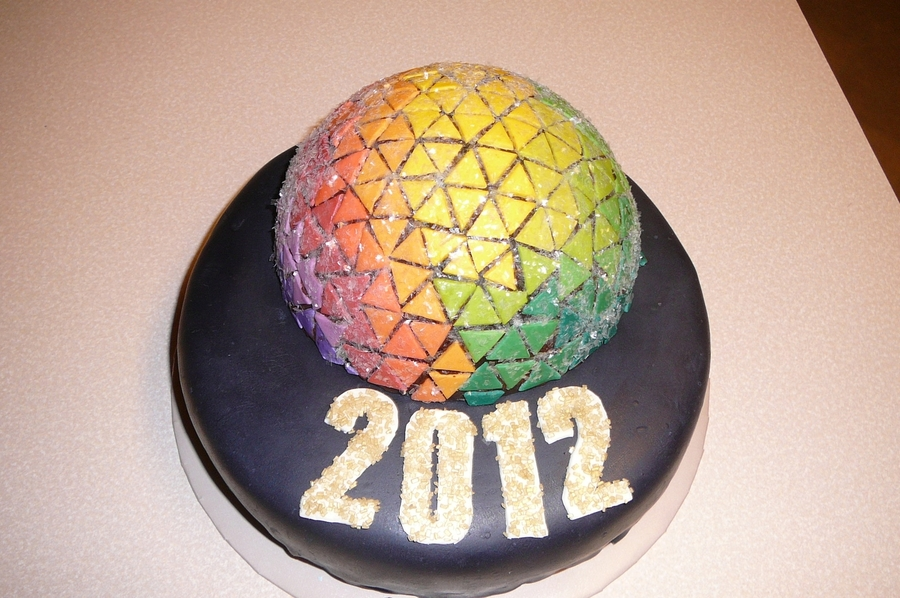 Times Square Ball on Cake Central