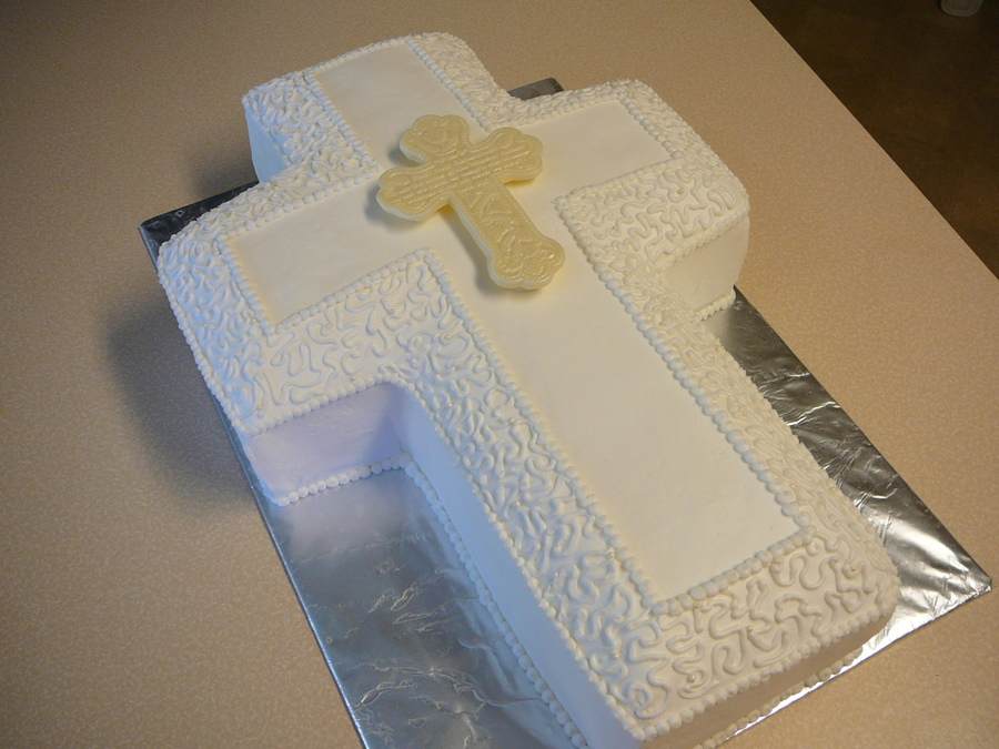 First Communion Cross Cake Cakecentral Com