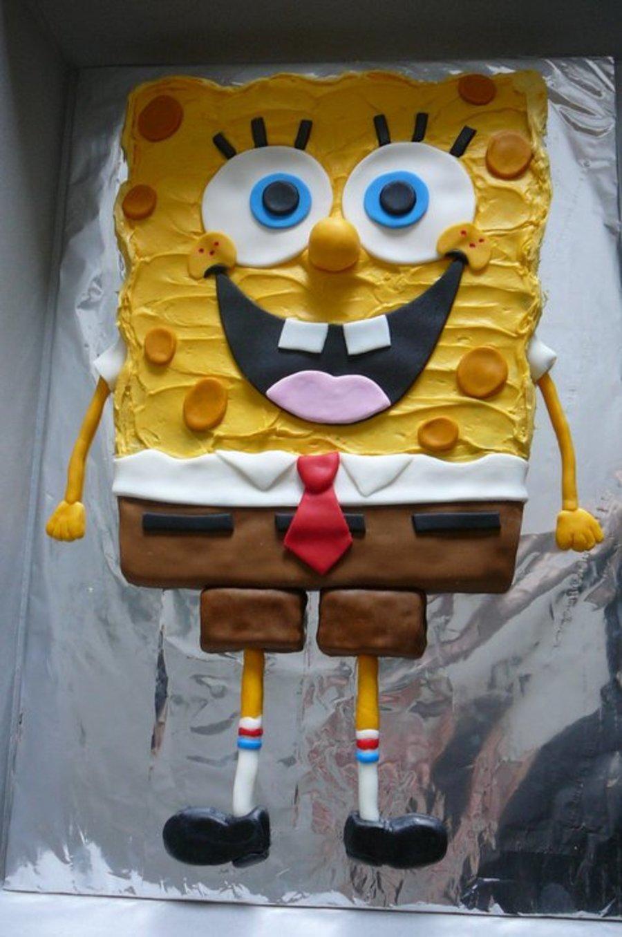 Spongebob Chocolate Chip Cookie Cake - CakeCentral.com