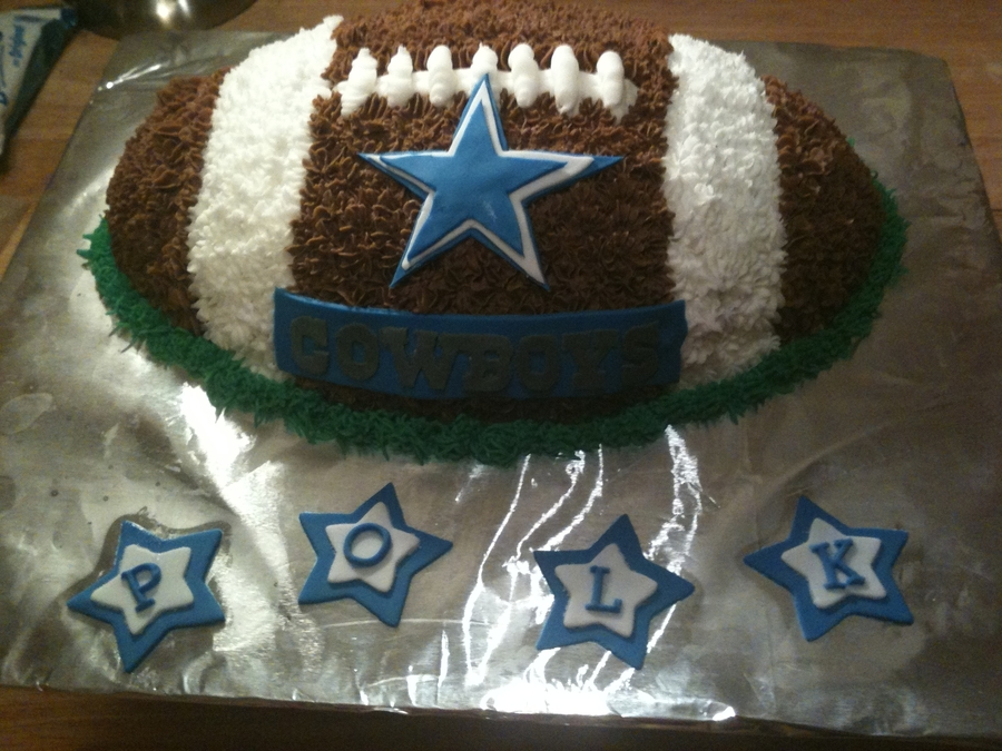 Football Cake - Cowboys on Cake Central