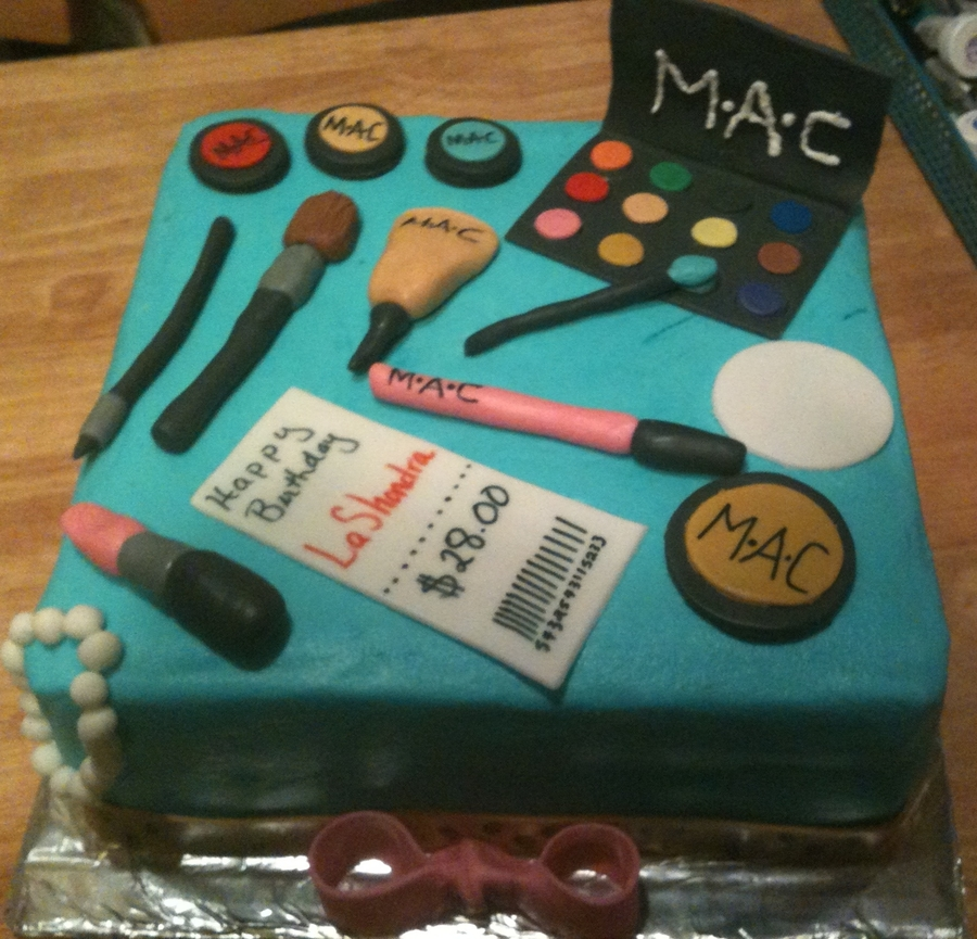 Mac Makeup Cake on Cake Central