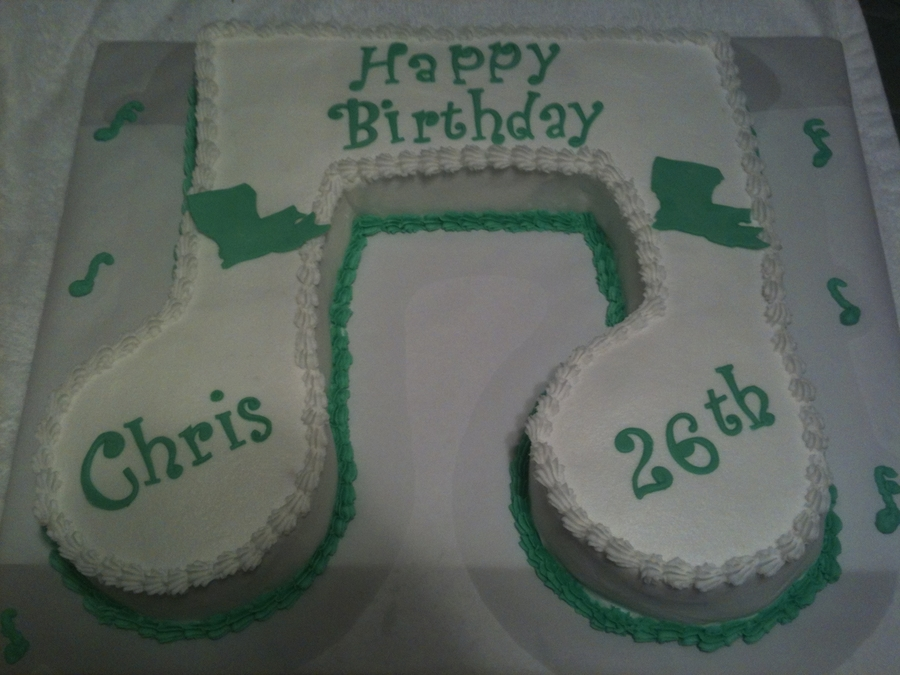 Musical Note on Cake Central