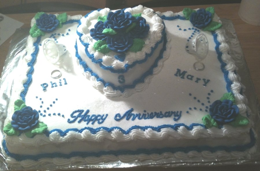 Wedding Anniversary Cake  on Cake Central