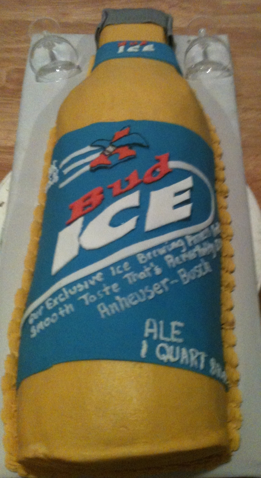 Bud Ice Bottle Cake on Cake Central