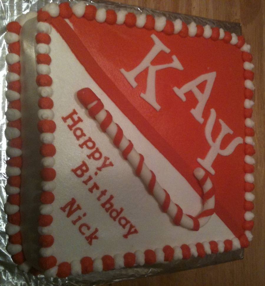 Kappa Alpha Psi Birthday Cake on Cake Central