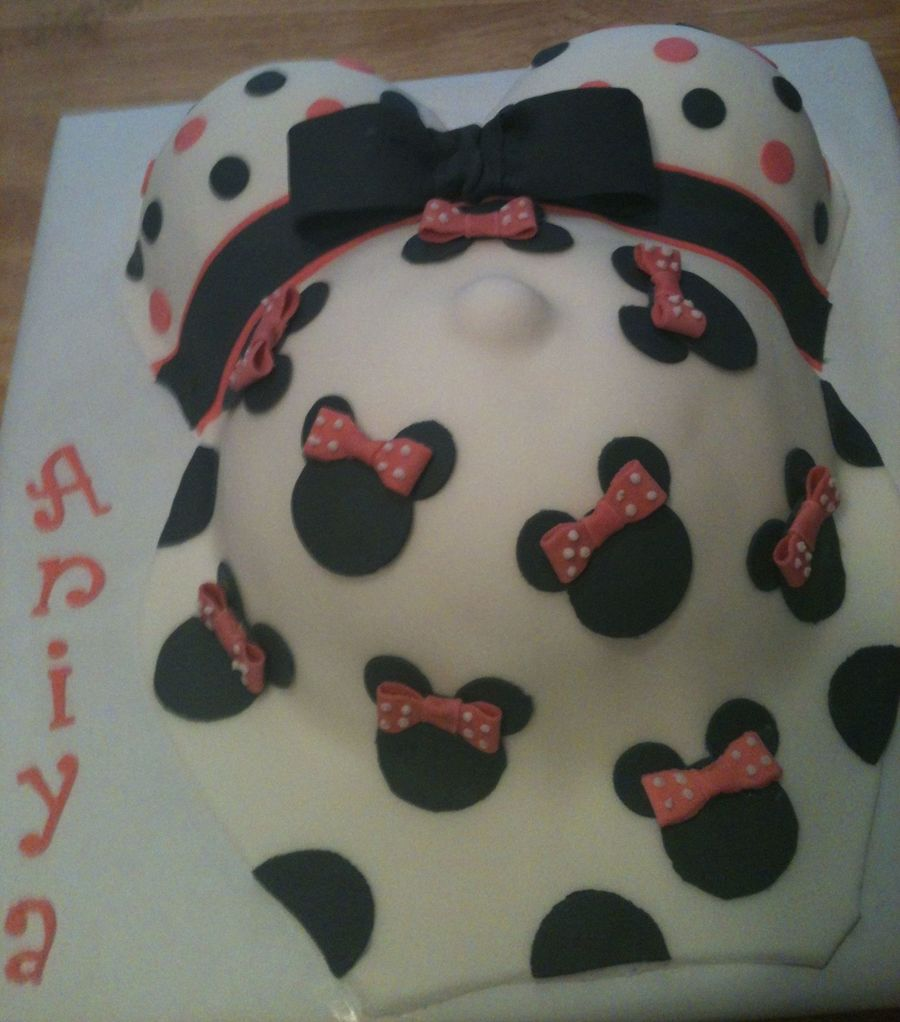 Pregnant Belly Minnie Mouse Cakecentral Com