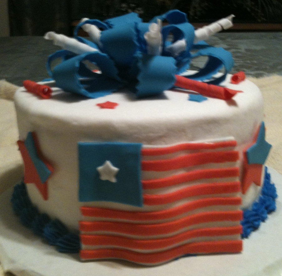 Fourth Of July Birthday Cake on Cake Central