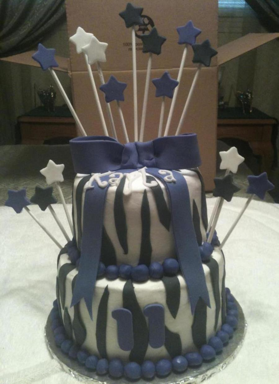 Birthday Cake - Purple And Black on Cake Central