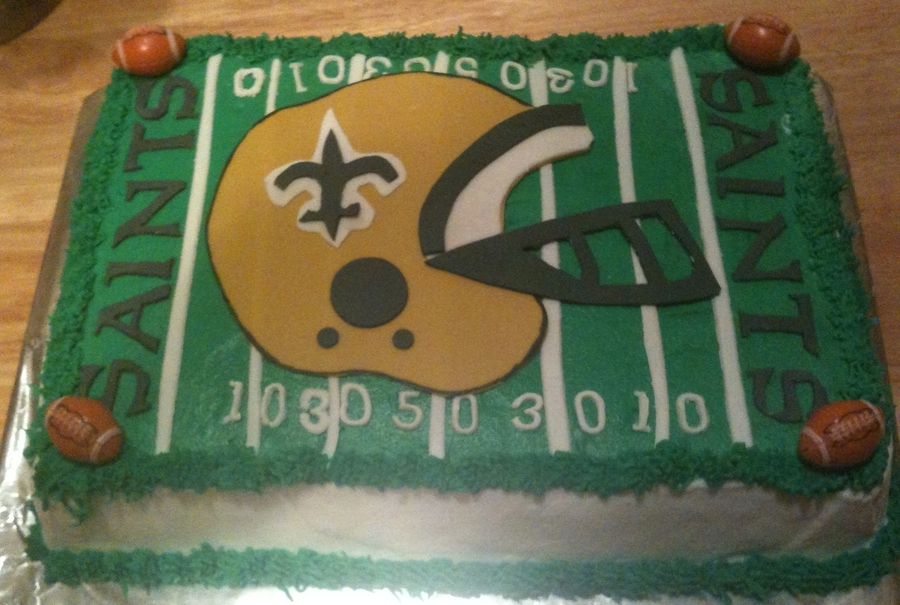 New Orleans Saints Field/helmet on Cake Central