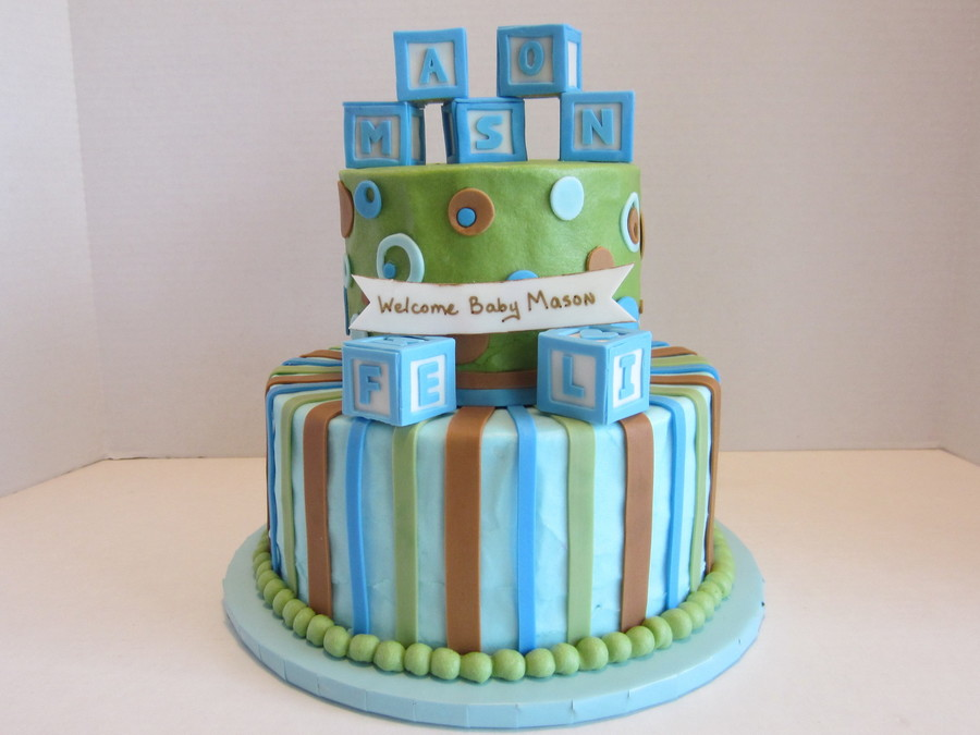 Baby Block Cake  on Cake Central