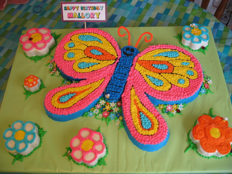 Butterfly Fondant Birthday Cakes