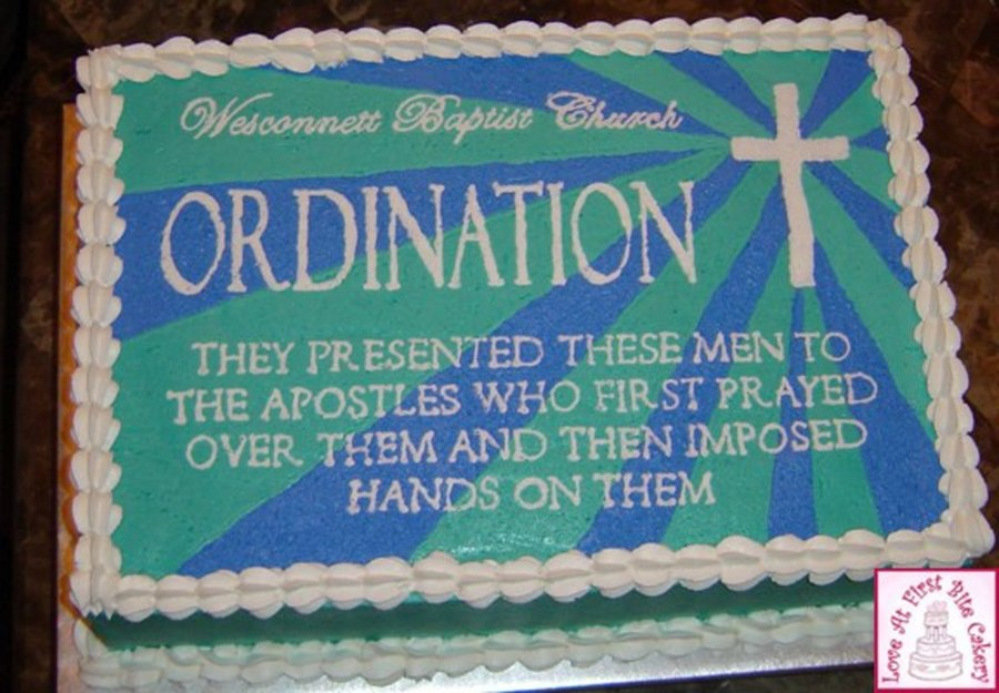Ordination on Cake Central