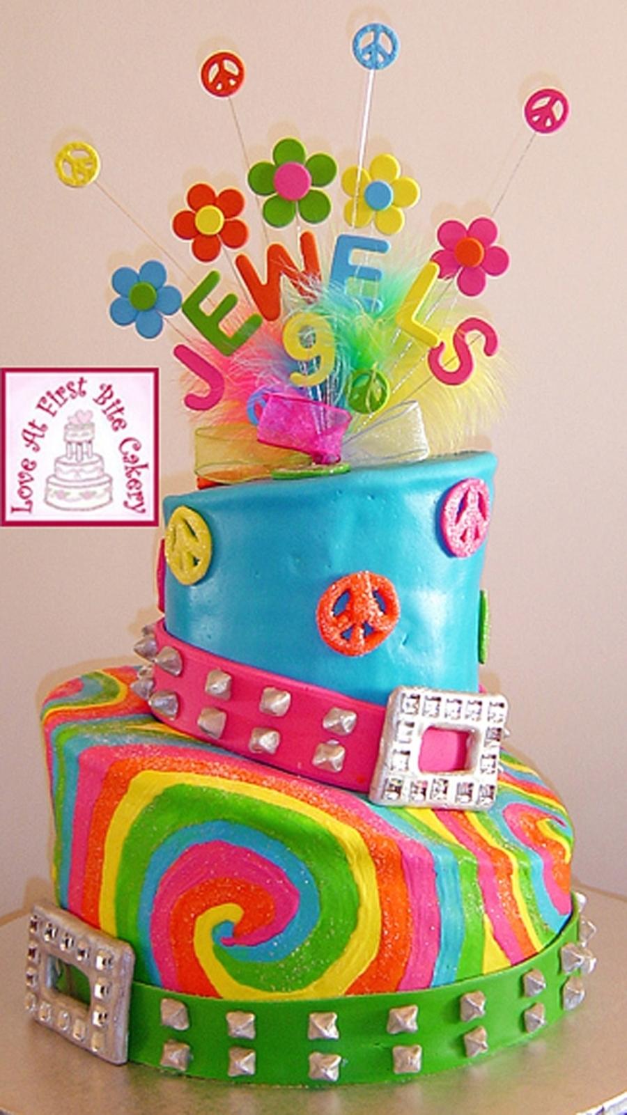 Fun 60s Theme Birthday Blast Cakecentral