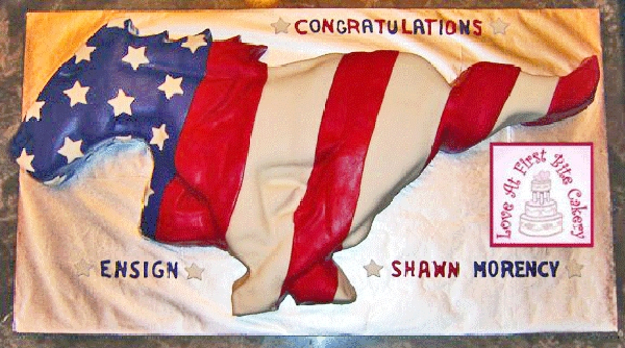 American Flag Mustang on Cake Central
