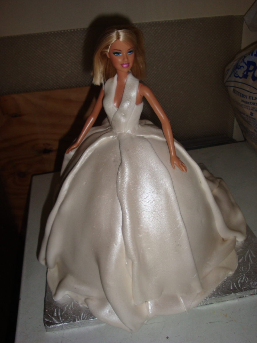 Barbie Bridal Shower Cake on Cake Central